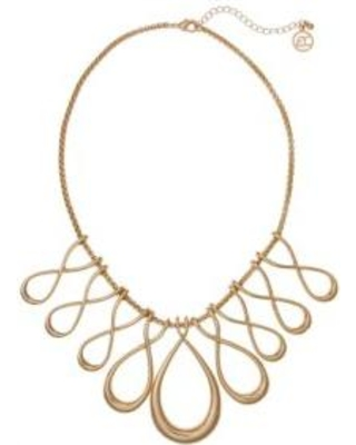 Erica Lyons Gold Gold-Tone Infinity Loops Necklace