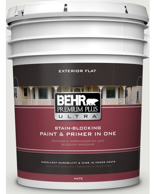 BEHR Premium Plus Ultra 5 gal. Home Decorators Collection #hdc-NT-10G Wedding Cake White Flat Exterior Paint & Primer