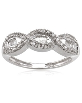 Sterling Silver 1/5ct TDW Diamond Woven Wedding Band (8)