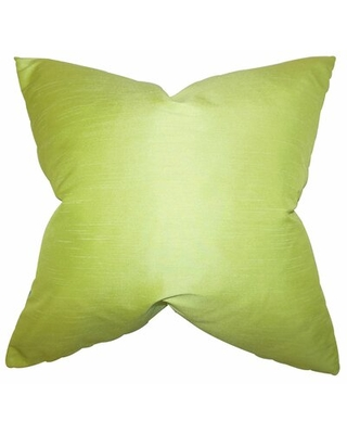"Baldwin Solid Throw Pillow The Pillow Collection Color: Wasabi, Size: 20"" x 20"""