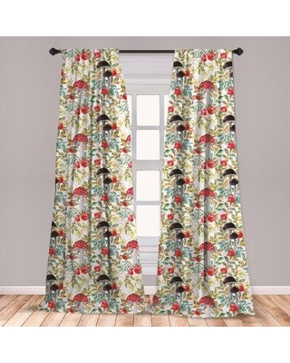 Spectacular Sales For East Urban Home Watercolor Floral Room Darkening Rod Pocket Curtain Panels Size Per Panel 28 X 63 Polyester Size 63 W X 56 D Wayfair