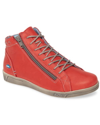 CLOUD Aika High Top Sneaker, Size 8-8.5Us in Red Brushed Sole Leather at Nordstrom