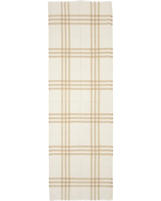 Women's Burberry Check Wool & Silk Scarf, Size One Size - White