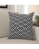 Find The Best Deals On South Ferry Lattice Square Throw Pillow Winston Porter Color Teal Size 18 X 18 Location Indoor