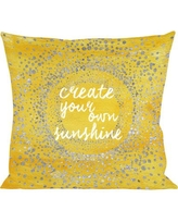 Oliver Gal Oliver Gal Home Your Own Sunshine Throw Pillow 14364.pillow_18x18_MF