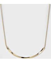 Women's Fashion Chain Necklace - A New Day Rose Gold, Bright Gold