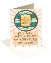American Greetings Father's Day Card Funny Thirst for Adventure with Foil