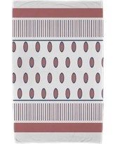 East Urban Home Upscale Getaway Center Stripe Beach Towel ESTW5574 Color: Orange