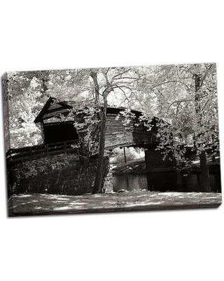 Millwood Pines 'Old Covered Bridge I' Photographic Print on Wrapped Canvas BF055803