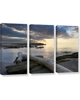 Find The Best Deals On Artwall Lake Erie Sunset Ii By Dan Wilson 3 Piece Framed Photographic Print On Canvas Set 0wil010c3654f