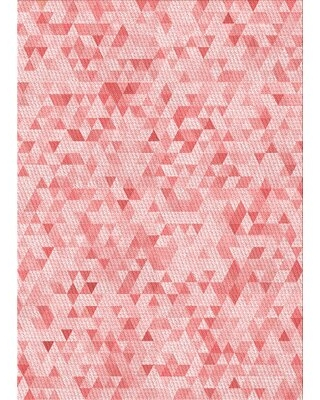 Amazing Sales On Geometric Wool Pink Area Rug East Urban Home Rug Size Rectangle 5 X 7