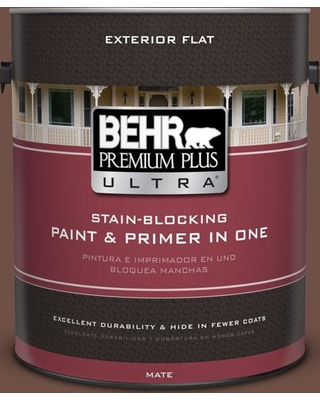 BEHR Premium Plus Ultra 1 gal. #PPU3-19 Moroccan Henna Flat Exterior Paint and Primer in One