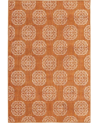 Hot Sale Home Decorators Collection Essex Medallion Rust Red 10