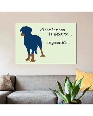 "East Urban Home 'Cleanliness' Graphic Art Print on Canvas UBAH9610 Size: 12"" H x 18"" W x 0.75"" D"