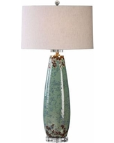 Uttermost Rovasenda Pale Mint Green Ceramic Table Lamp