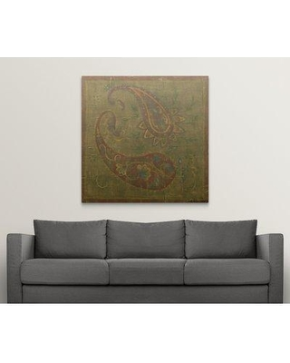 """Great Big Canvas 'Old World Paisley I' Chariklia Zarris Painting Print 1117885_1 Size: 48"""" H x 48"""" W x 1.5"""" D Format: Canvas"""