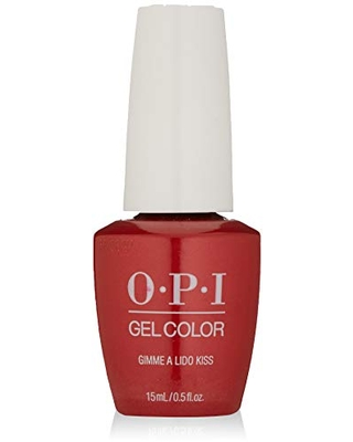 OPI GelColor, Gimme A Lido Kiss, Red Gel Nail Polish, Venice Collection, 0.5 fl oz