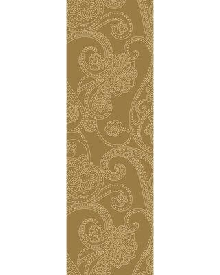 "Alcott Hill Laurita Hand-Tufted Tan/White Area Rug ALCT9021 Rug Size: Runner 2'6"" x 8'"
