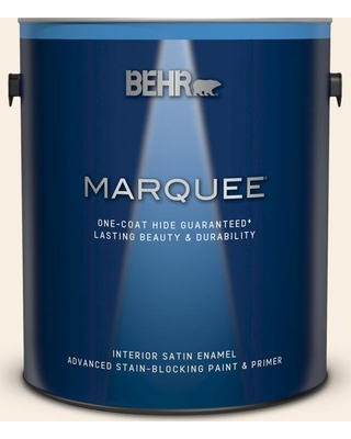 BEHR MARQUEE 1 gal. #M220-1 Marshmallow Whip Satin Enamel Interior Paint and Primer in One