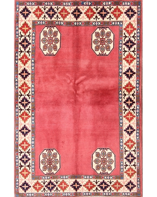 """Traditional Hand Made Sarouk Persian Floral Area Rug Woolen - 5'9"""" x 3'8"""" (5'9"""" x 3'8"""" - Red)"""