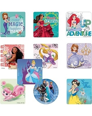 """SmileMakers Disney Princess Sticker Sampler; Assorted Designs, 2-1/2"""" Stickers, 950 Total Stickers (PCSS-R)"""