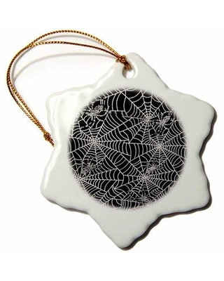 The Holiday Aisle Shiny Spider Webs Holiday Shaped Ornament X113528095