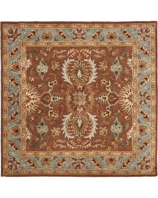 Safavieh Heritage Brown/Blue 6 ft. x 6 ft. Square Area Rug