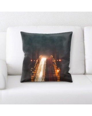 Latitude Run Rotteck A Road to Many Places Throw Pillow BF135490