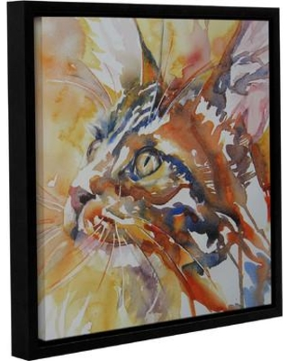 Discover Deals On Latitude Run Cat 4 Framed Painting Print Canvas Fabric In Brown Blue Orange Size 10 H X 10 W X 2 D Wayfair Ltrn6354 33280652