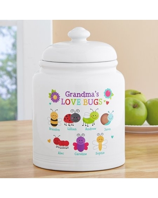 Personalized Love Bugs Treat/Cookie Jar