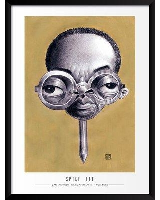 """Artography Limited 'Spike Lee' Framed Drawing Print Poster BF033093 Size: 25"""" H x 19"""" W x 1.25"""" D"""