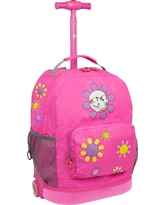 J World 18 Daisy Rolling Backpack - Pink
