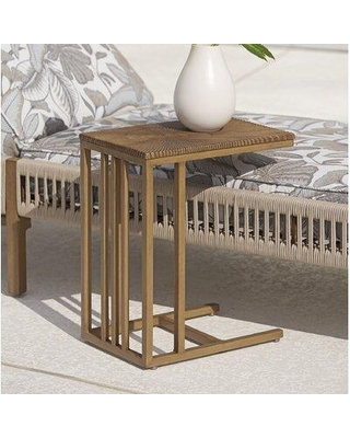 """Tommy Bahama Outdoor St Tropez Side Table, Wood/Metal in Brown, Size 21""""H X 18""""W X 12""""D 