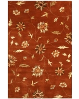 Shop Deals On Padra Hand Tufted Red Beige Area Rug Meridian Rugmakers