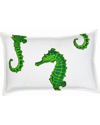 Greendale Home Fashions Seahorse Oblong Throw Pillow, Green