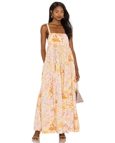 Free People Park Slope Maxi Dress in Peach. - size M (also in L)