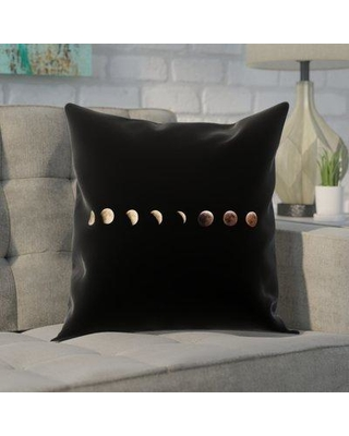 "Brayden Studio Shepparton Moon Phases Square Pillow Cover BYST5086 Size: 14"" x 14"""