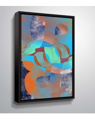 "East Urban Home 'Geometric 16' Framed Graphic Art Print on Canvas W000304986 Size: 48"" H x 32"" W x 2"" D Format: Floater Frame"