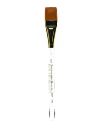 Princeton Art & Brush Series 4350 Synthetic Watercolor And Acrylic Brushes 1 In. Square Wash (4350W-100), Green | Quill
