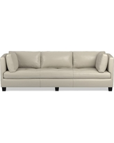 "Wilshire Sofa 96"", Standard Cushion, Italian Distressed Leather, Ivory"