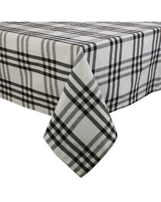 DII Homestead Plaid 60-Inch x 120-Inch Oblong Tablecloth in Black