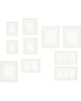 Gallery in a Box, Modern White Frames, Set of 10