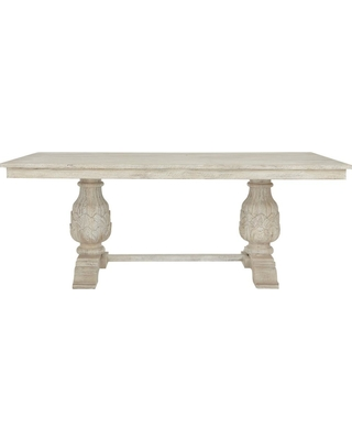 Home Decorators Collection Kingsley Sandblasted White Dining Table