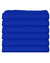 bkb Daycare 12 Piece Fitted Crib and Toddler Sheets, Royal Blue
