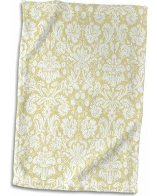 Symple Stuff Mccarley Damask Hand Towel W001278420 Color: Silver/White