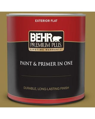 BEHR PREMIUM PLUS 1 qt. #T11-17 Wishing Troll Flat Exterior Paint and Primer in One
