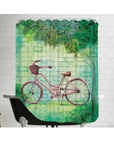 East Urban Home Bicycle Shower Curtain UNFP7875