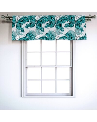 """Butterfly 54"""" Window Valance East Urban Home"""