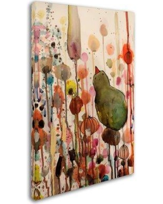 """Trademark Art 'Waiting' Graphic Art Print on Wrapped Canvas ALI15209-C Size: 32"""" H x 22"""" W"""