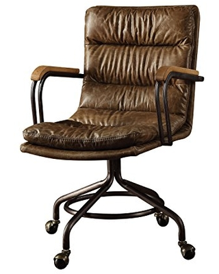 ACME Harith Executive Office Chair - 92416 - Vintage Whiskey Top Grain Leather